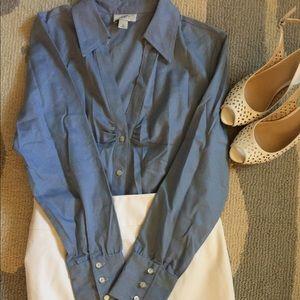 NWOT Loft Long Sleeve Button Down Blouse / Top